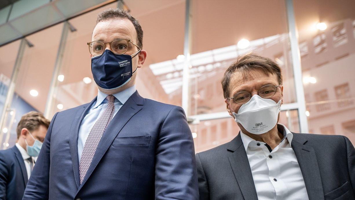 Jens Spahn (li.) mit Karl Lauterbach