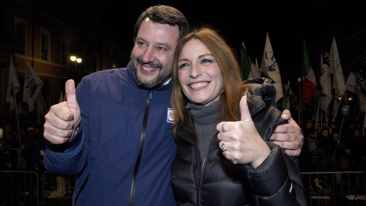 Matteo Salvini mit der Lega-Politikerin Lucia Borgonzoni