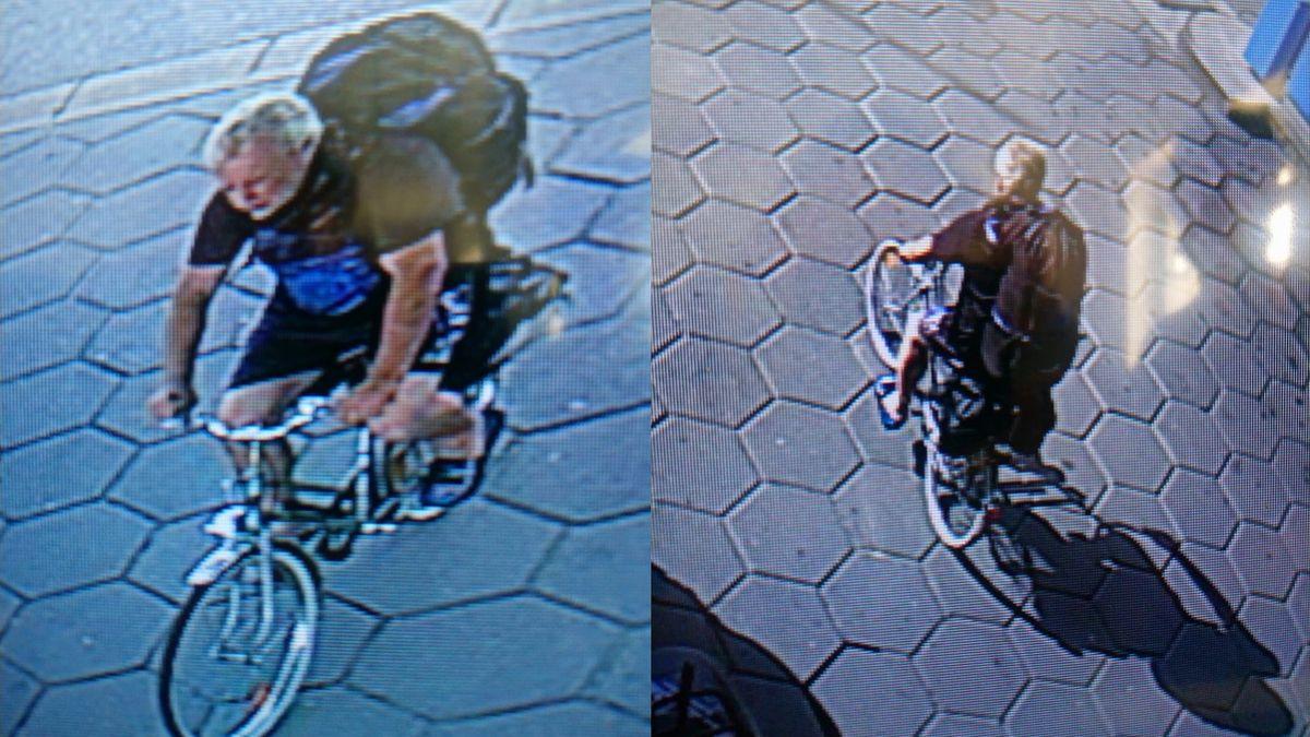 Aufnahmen des Tatverdächtigen an einer Tankstelle in Altenkreith