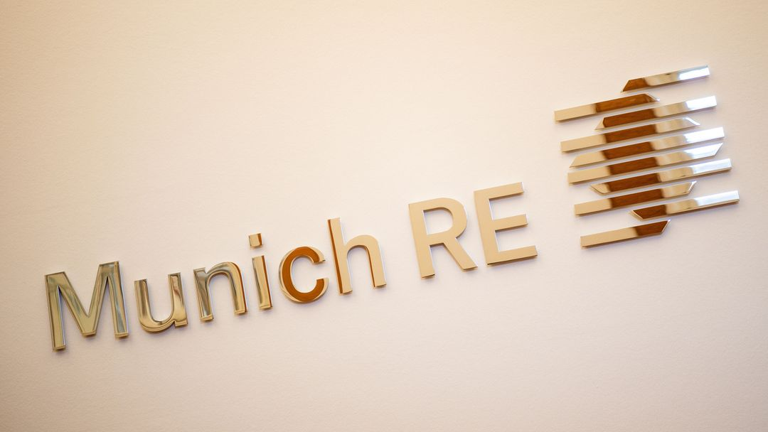 Das Logo der Münchener Rückversicherungs-Gesellschaft.