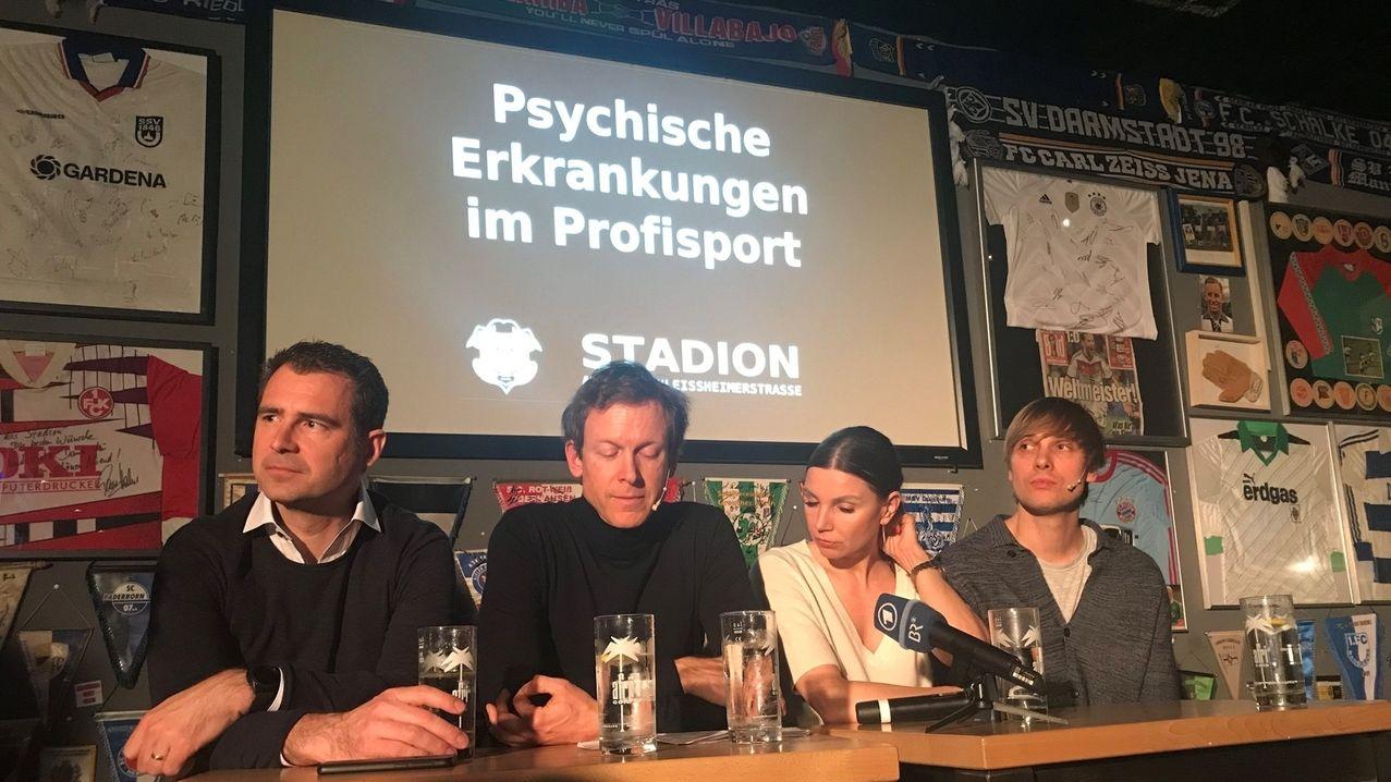 """Podiumsdiskussion """"Psychische Erkrankungen im Profisport"""""""