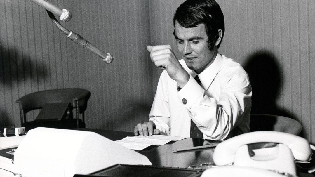Verkehrsfunk: Herbert Mair von der Bayern 3-Redaktion, 1972