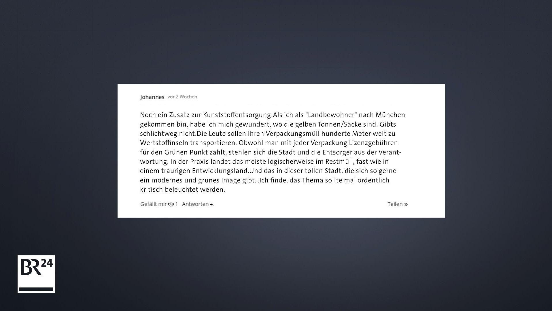 Faktenfuchs Wertstoffinsel Statt Gelber Tonne In München Br24