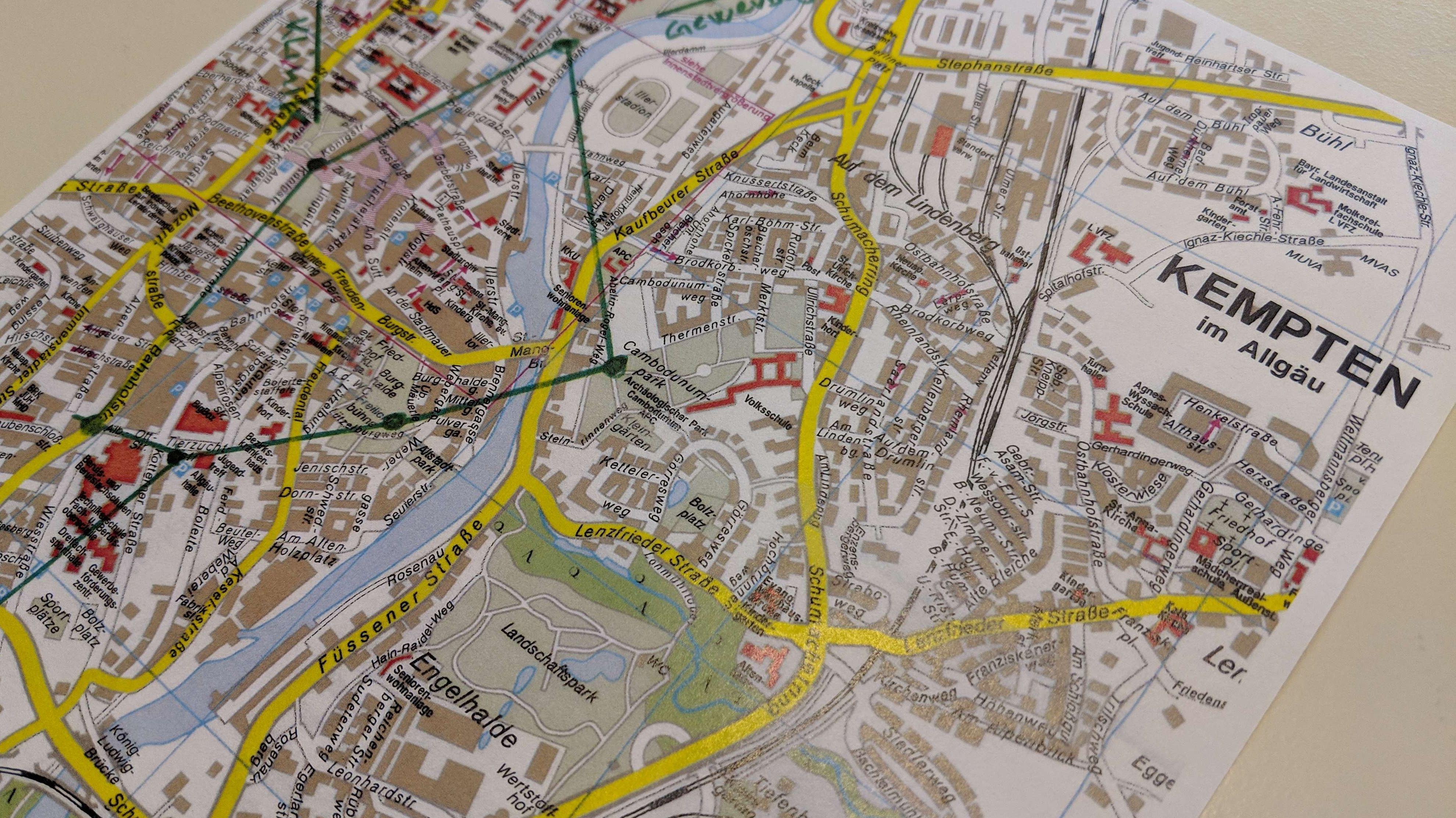 Stadtplan der Stadt Kempten
