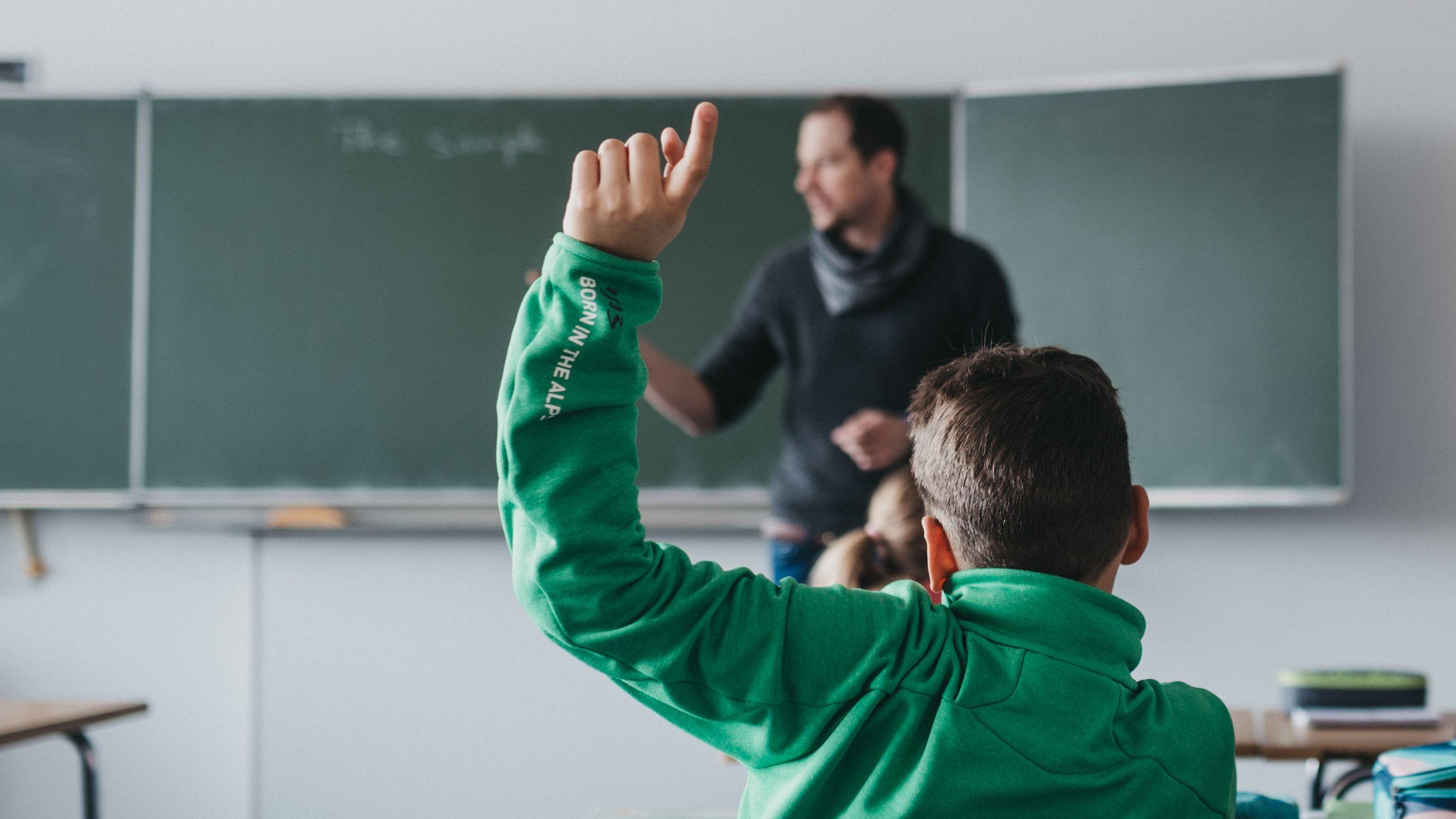 Unterricht an einer Schule (Symbolbild)