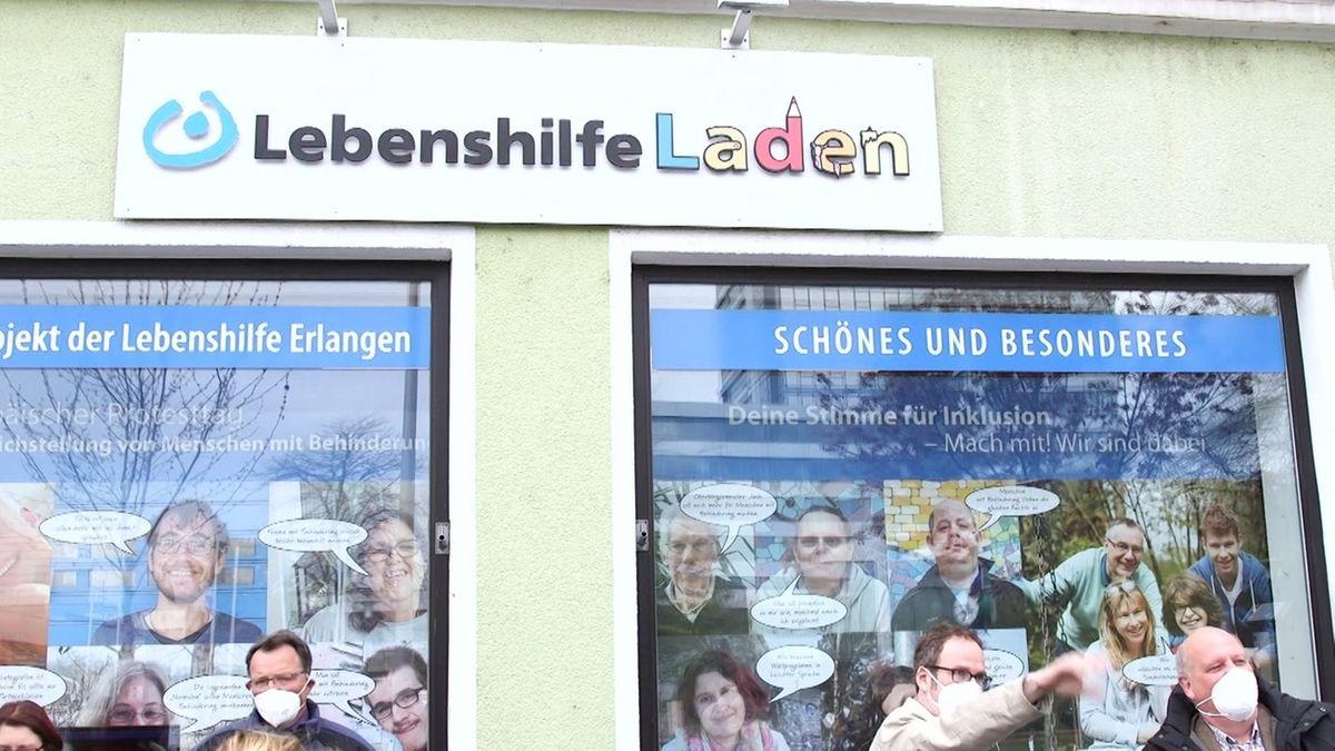 Aktion für Inklusion der Lebenshilfe Erlangen