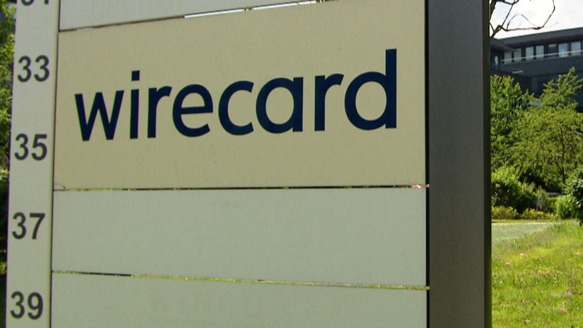 Wirecard-Firmenschild