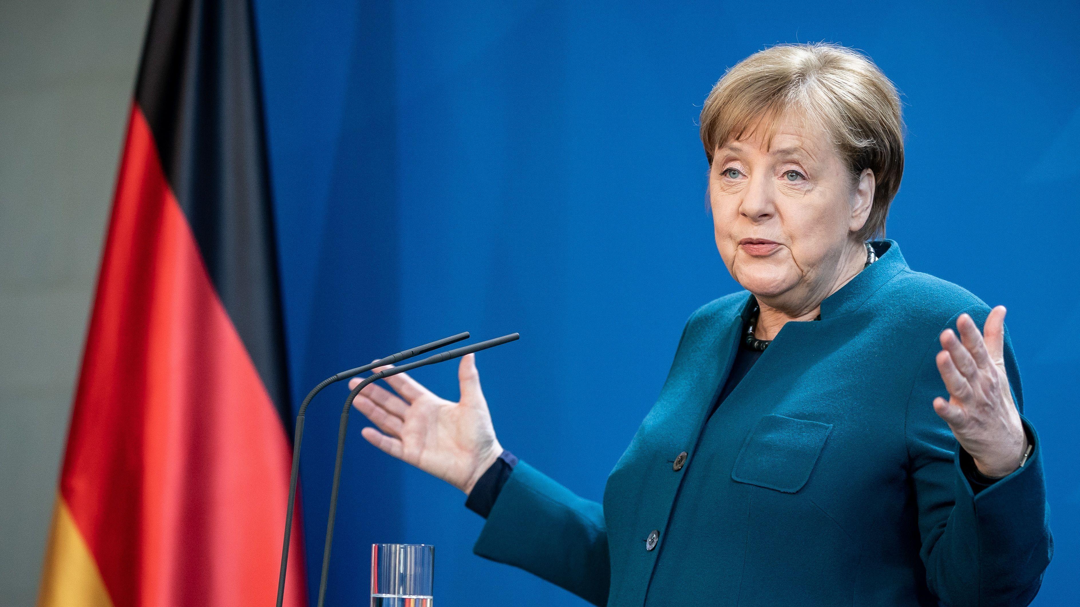 Angela Merkel muss nun von daheim arbeiten