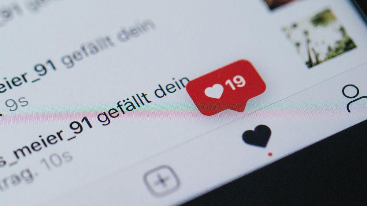 Instagram-Profil zeigt Likes an