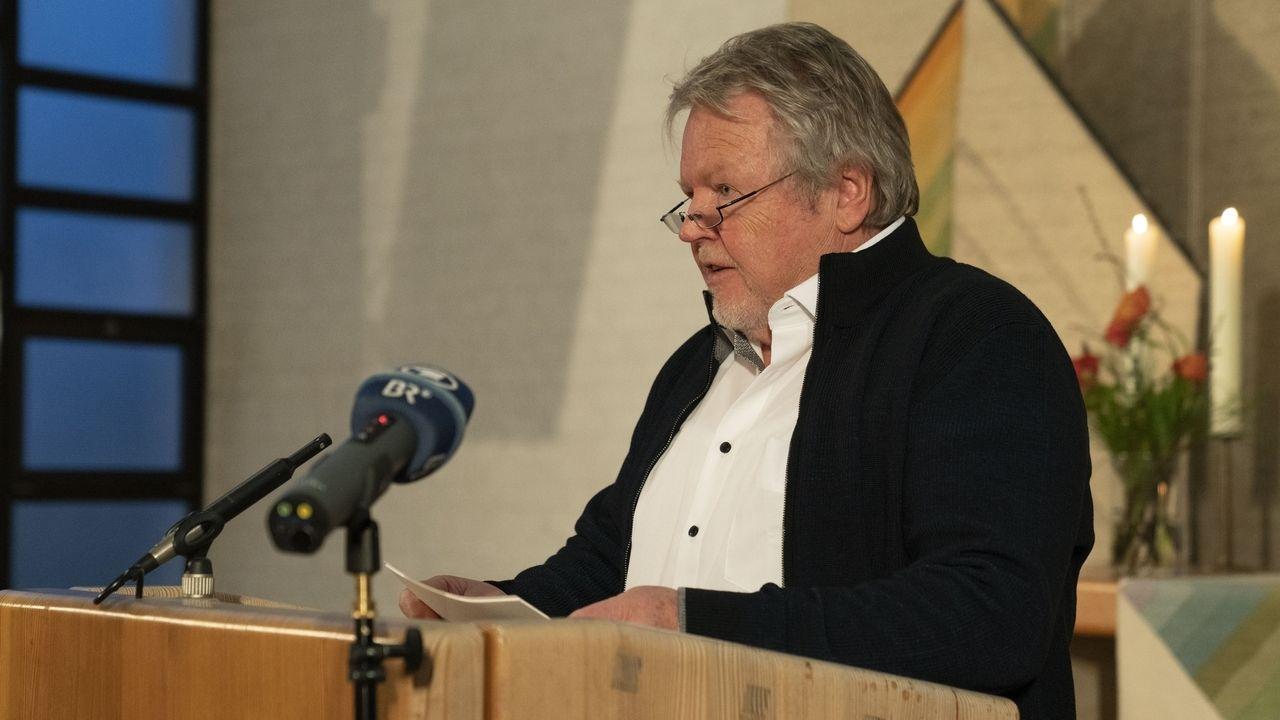 Filmemacher Josef Pröll bei seiner Rede bei der Verleihung des Willi-Ohlendorf-Preis