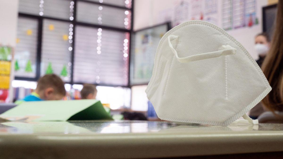 FFP2-Maske im Klassenzimmer