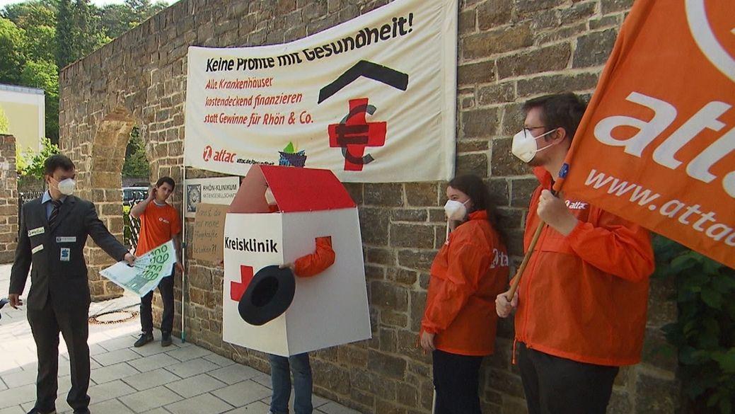 Rhön-Klinikum: Attac protestiert in Bad Neustadt an der Saale