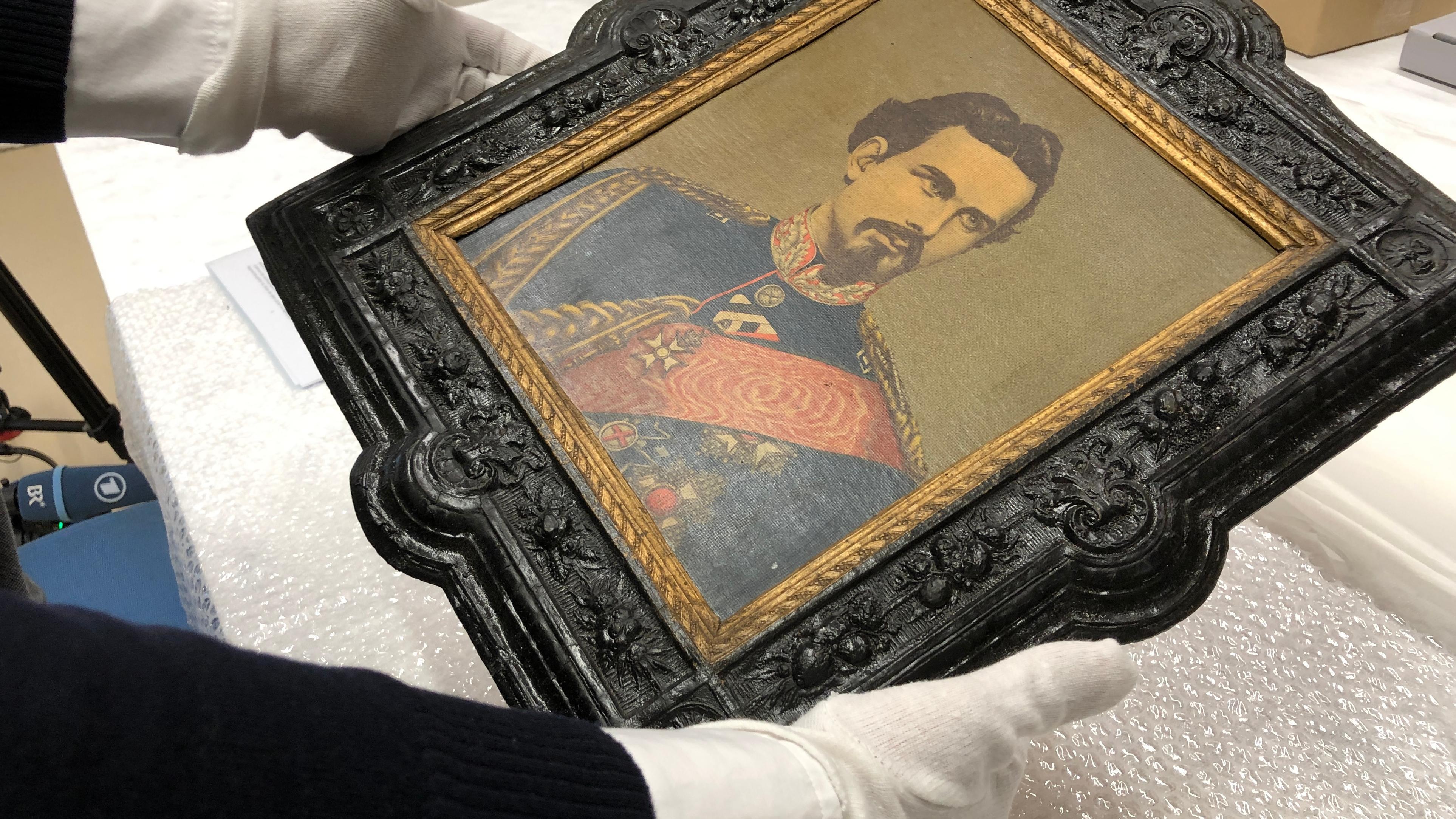 Ein Bild von König Ludwig II. Es wird künftig in der Dauerausstellung es Museums der Bayerischen Geschichte zu sehen sein.