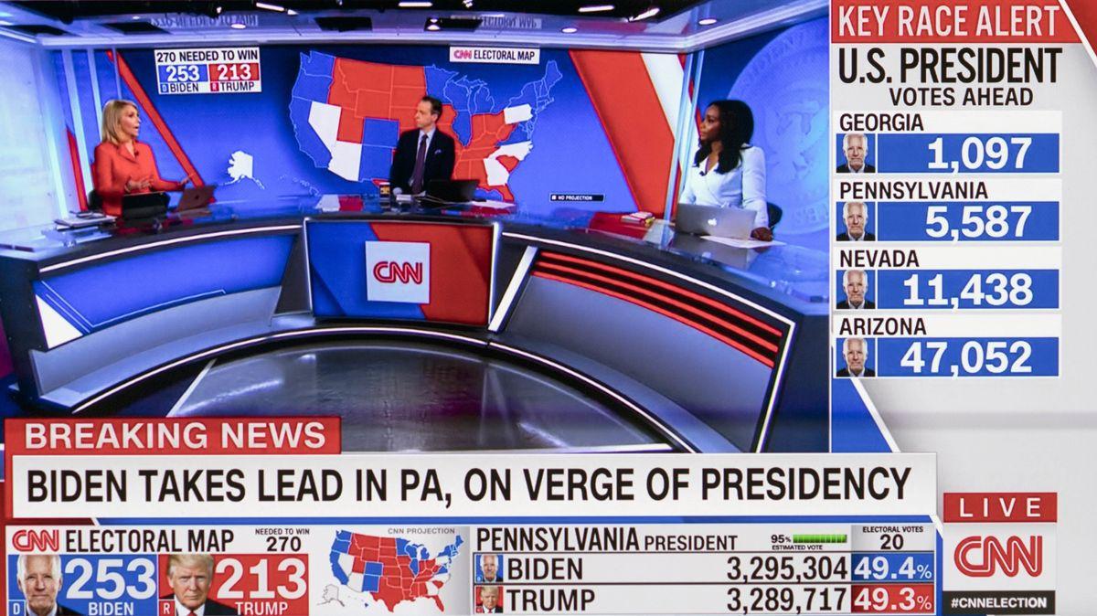 Wahlberichterstattung bei CNN.