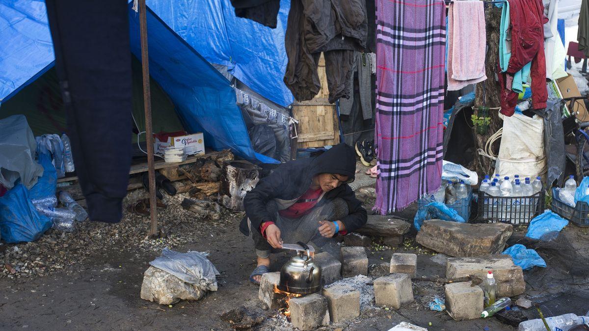 Illegale Migranten auf der griechischen Insel Lesbos