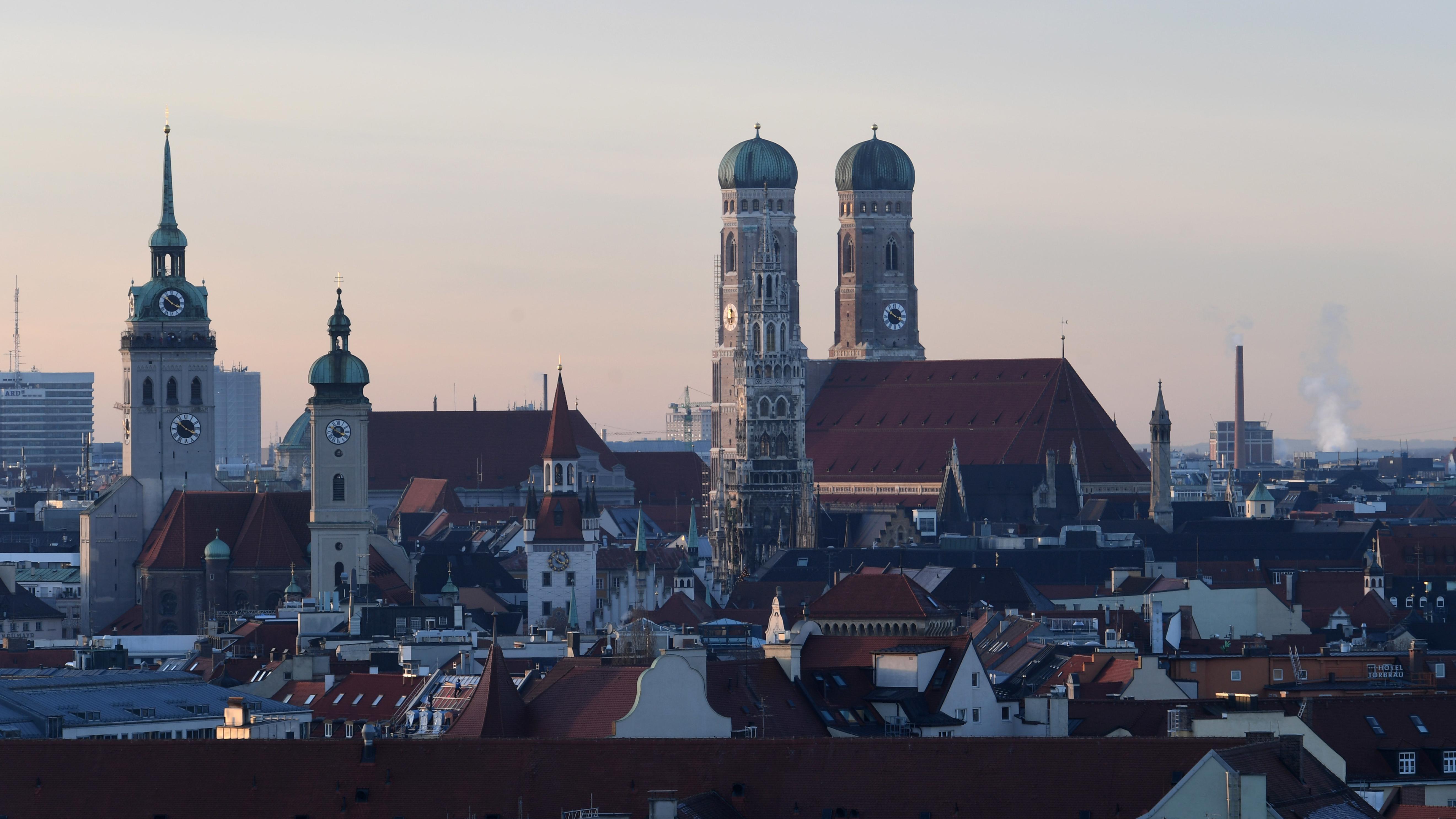 Stadtansicht München mit Frauenkirche