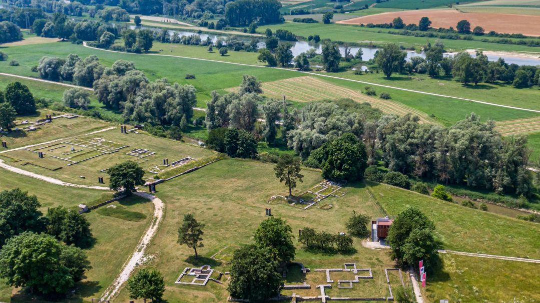 Das Römerkastell Abusina an der Donau.