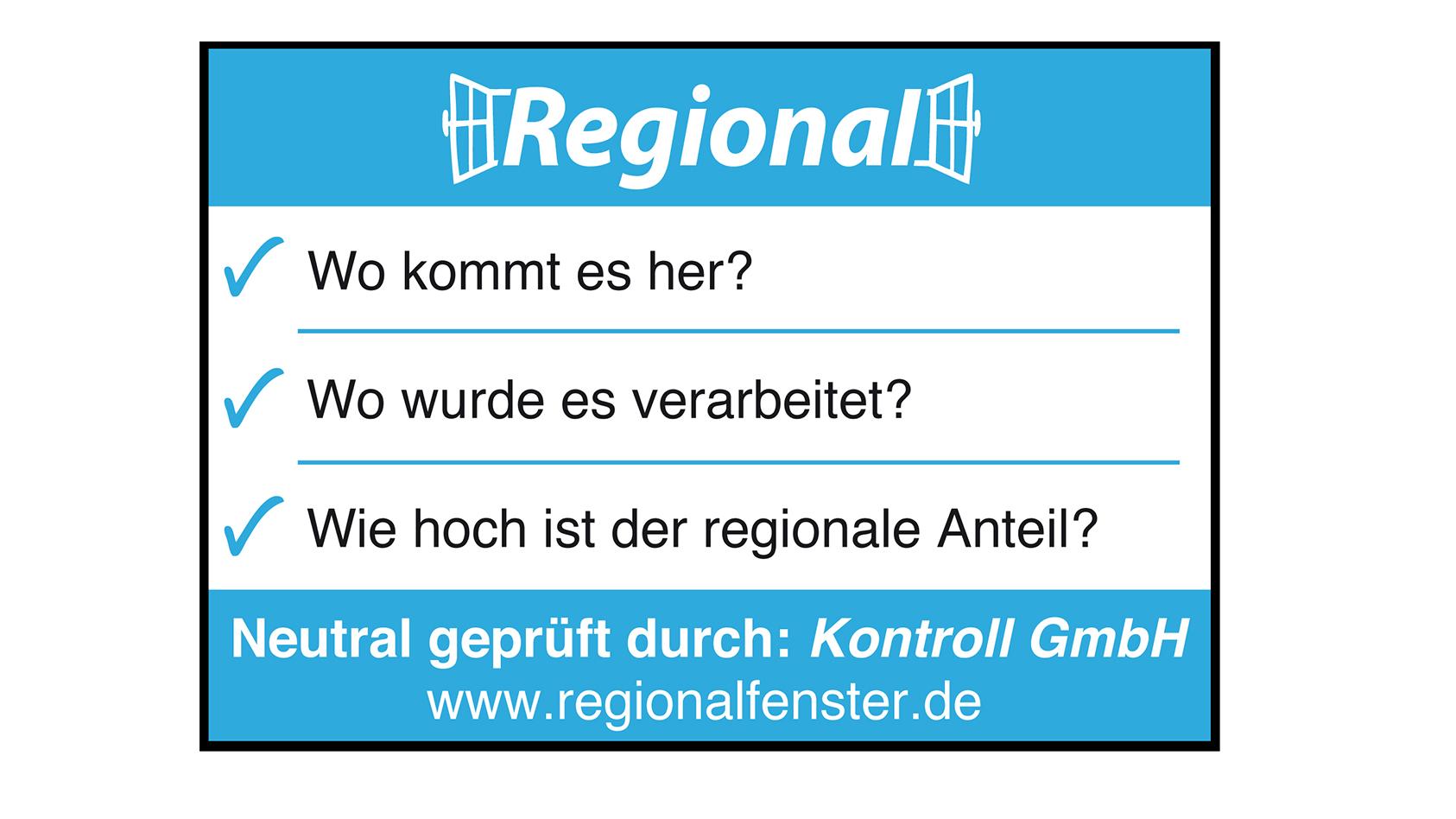 """Das Siegel """"Regionalfenster"""""""