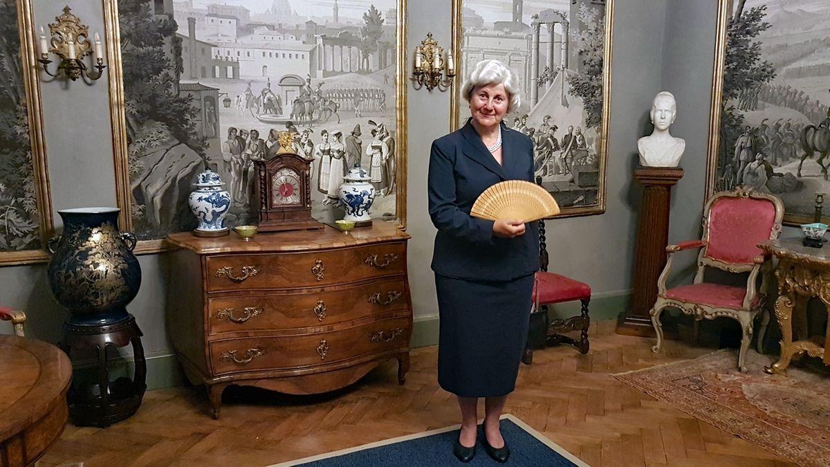 Wiedereröffnung Graf-Luxburg-Museum in Aschach, Gräfin Carola von Luxburg alias Renate Kiesel