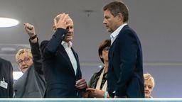 Bei den Koalitionsverhandlungen sehen Kanzlerkandidat Scholz und Grünen-Co-Chef Habeck keinen Spielraum für Steuerentlastungen.   Bild:picture alliance/dpa   Christophe Gateau