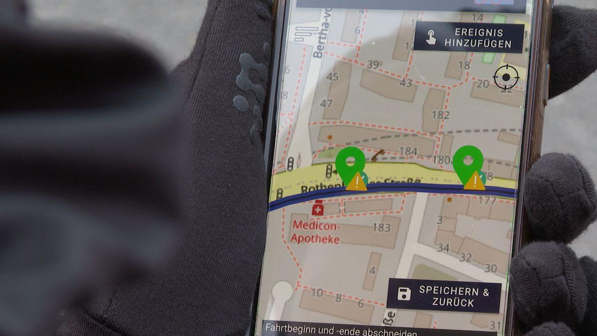 SimRa-App auf dem Handy