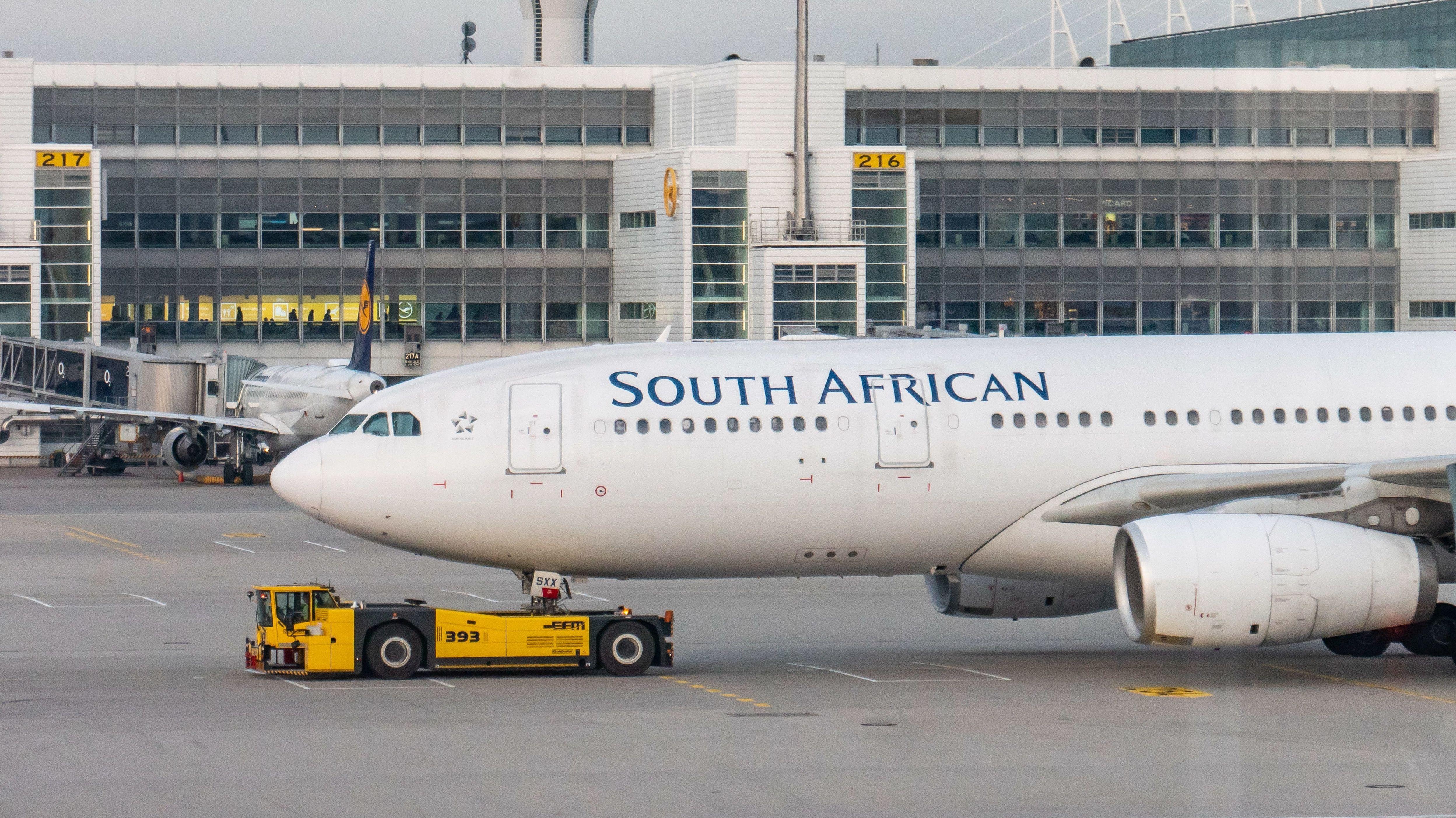 South African Airways Airbus A330 am Münchner Flughafen (Symbolbild)