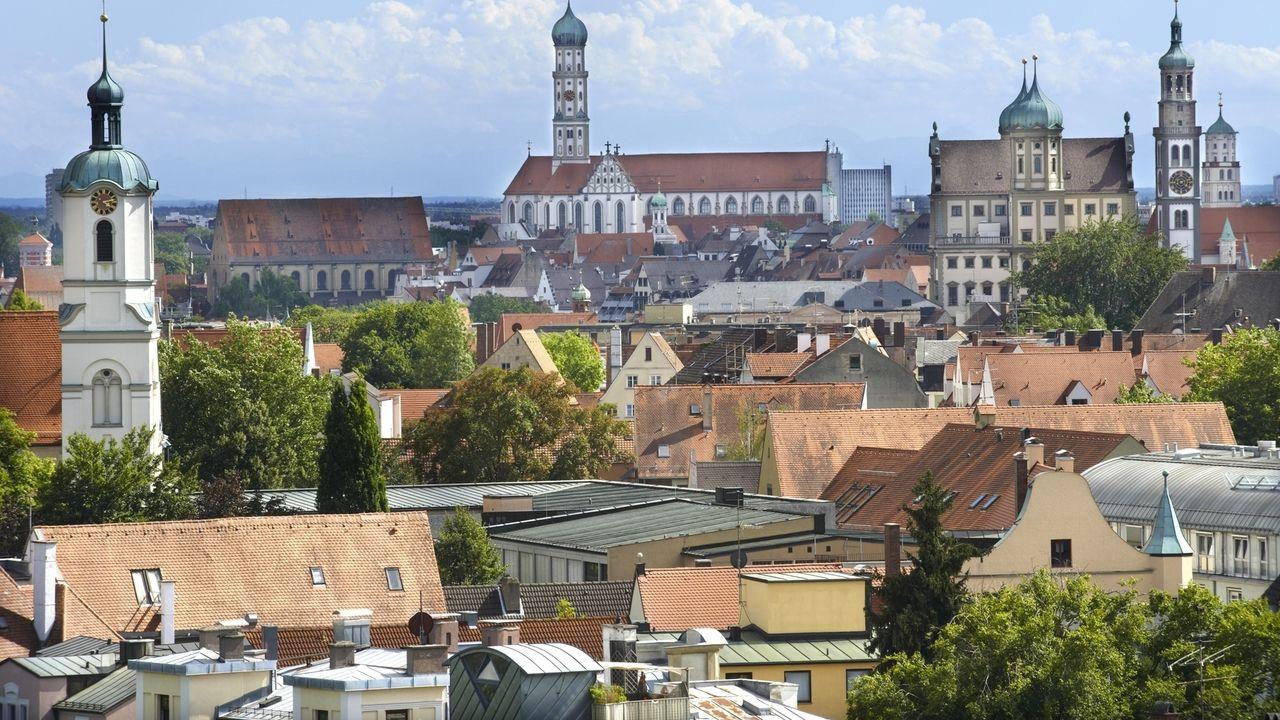 Blick auf die Augsburger Innenstadt