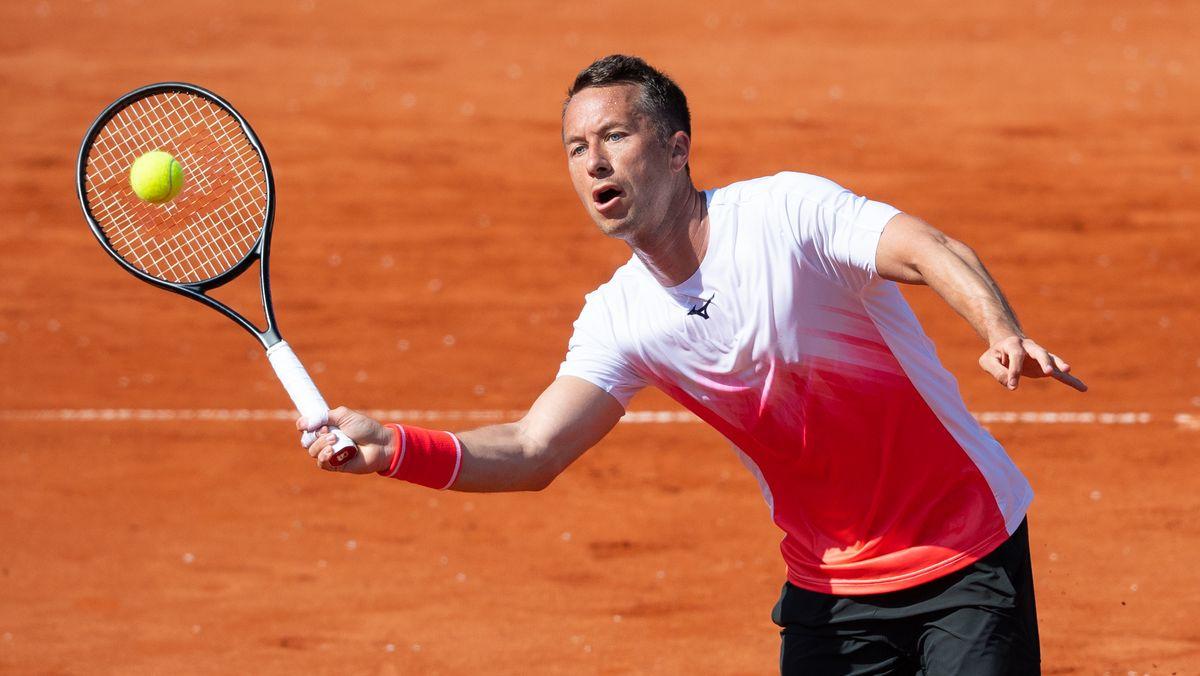 Philipp Kohlschreiber bei den French Open in Paris.