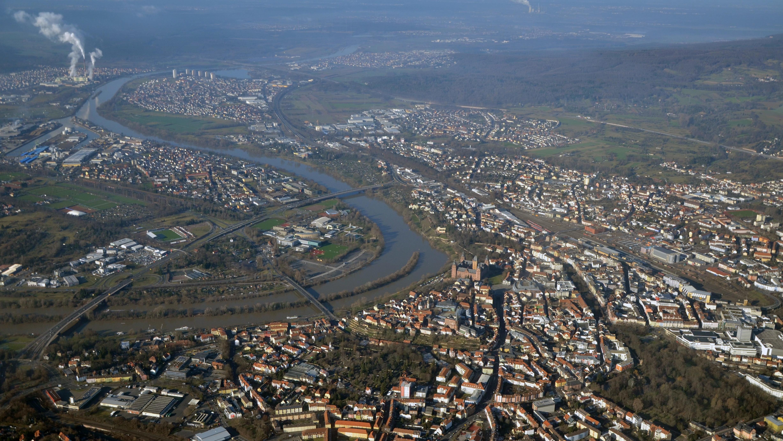 Luftaufnahme von Aschaffenburg