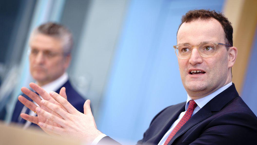 Betonen positive Entwicklung beim Impfen: Gesundheitsminister Spahn und RKI-Chef Wieler