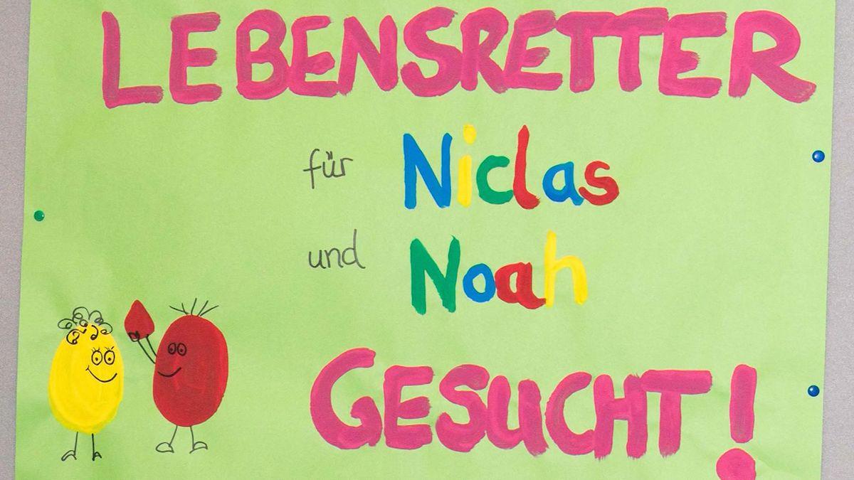 Zwei Stammzellenspenden retteten Niclas und Noah das Leben: So wurden Spender gesucht.