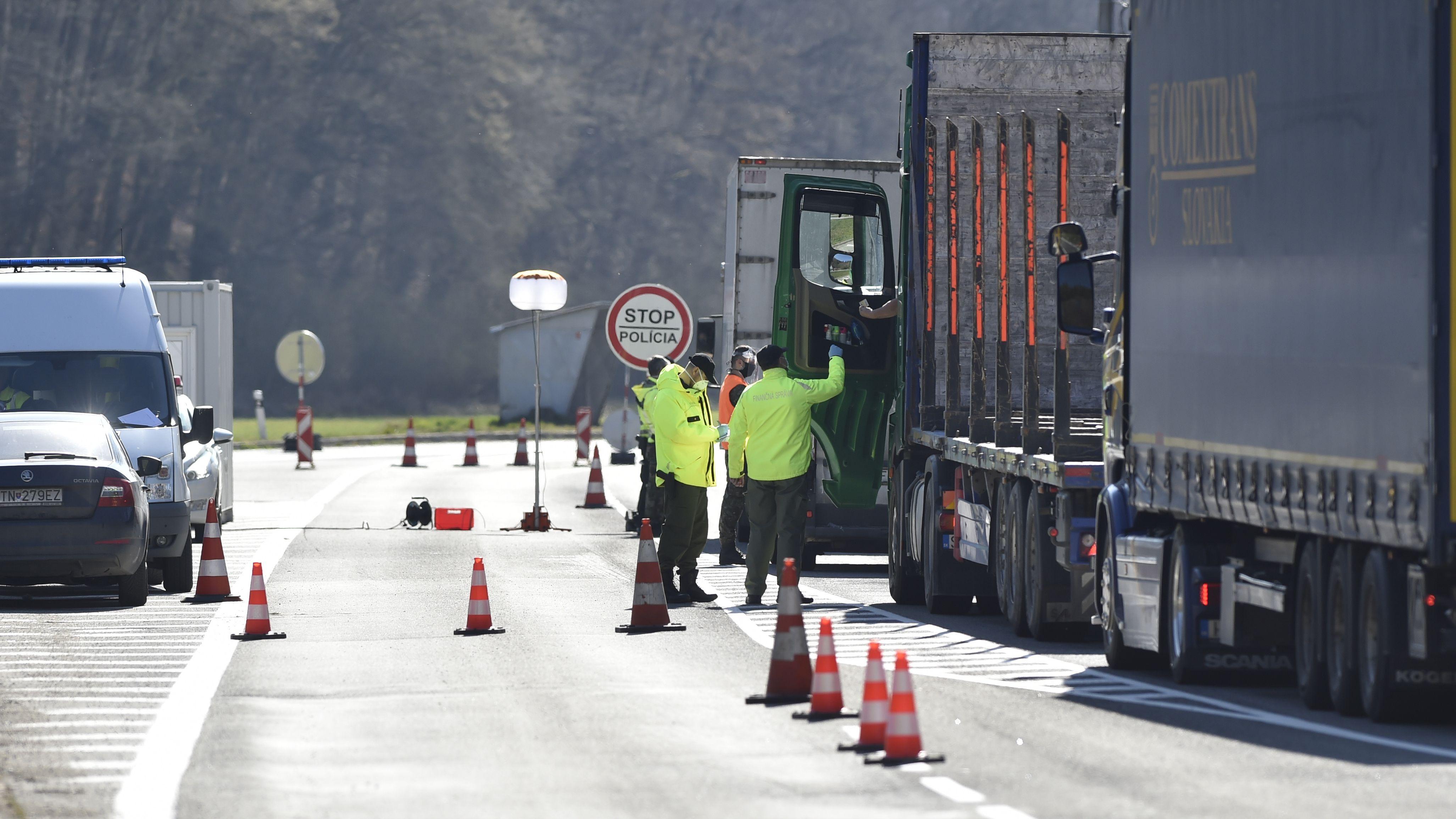 Polizeikontrolle an der tschechischen Grenze
