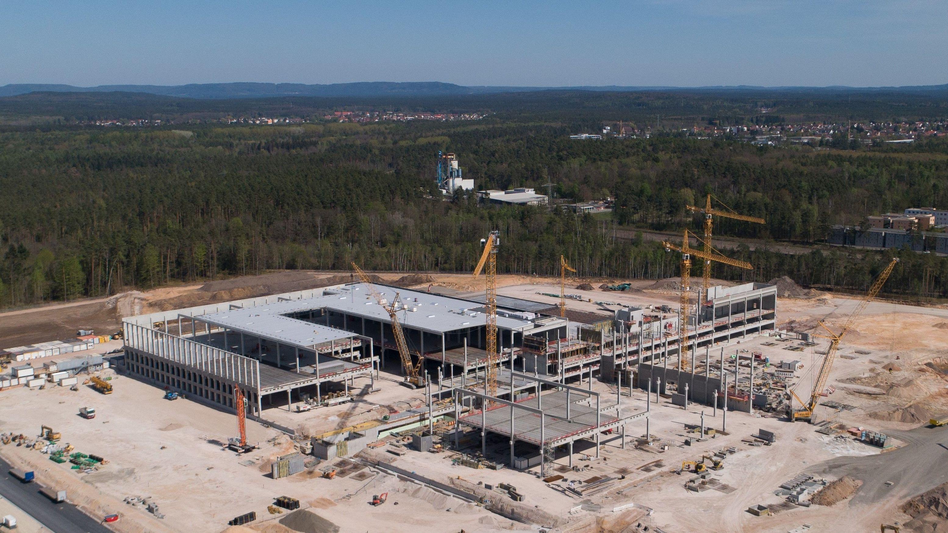 Baustelle des Logistikzentrums