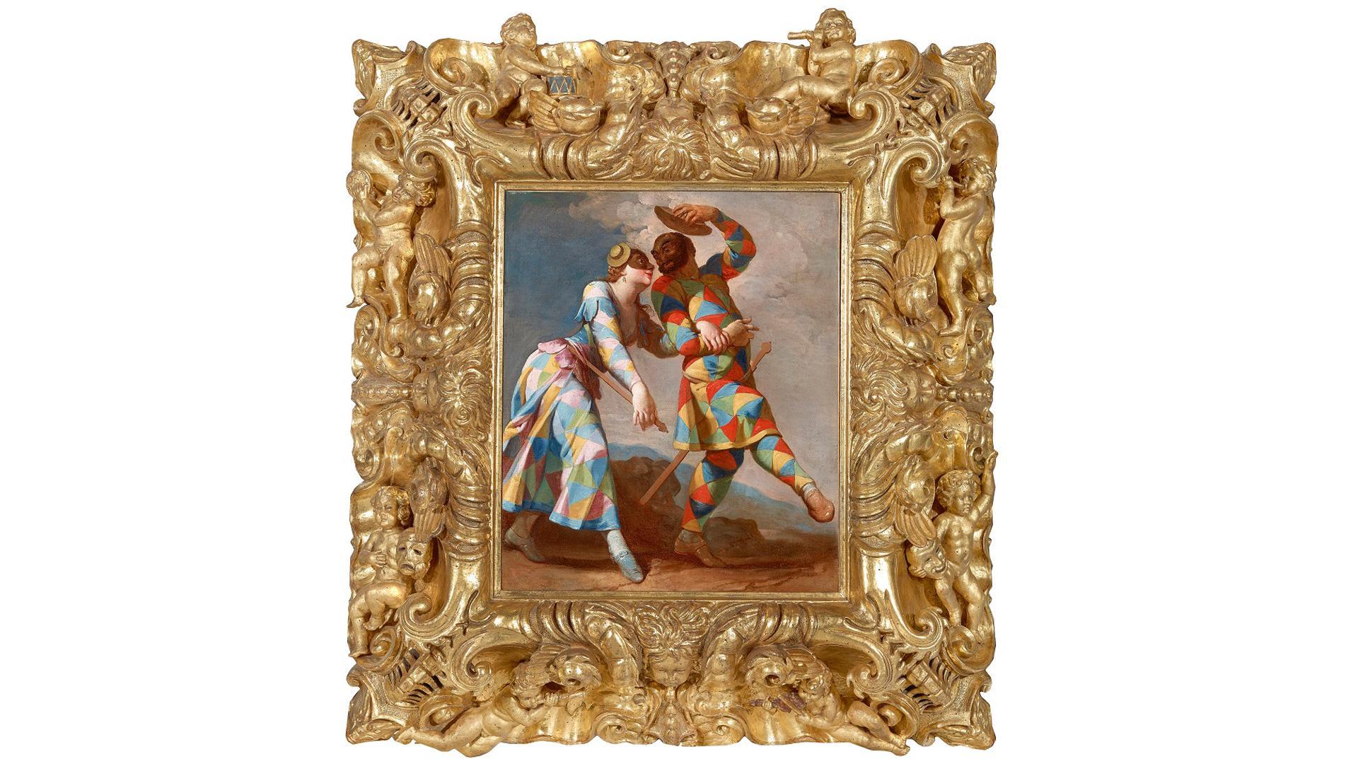 Alle Gemälde sind mit prachtvollen Rahmen versehen, die zum Teil aus ihrer Entstehungszeit stammen.