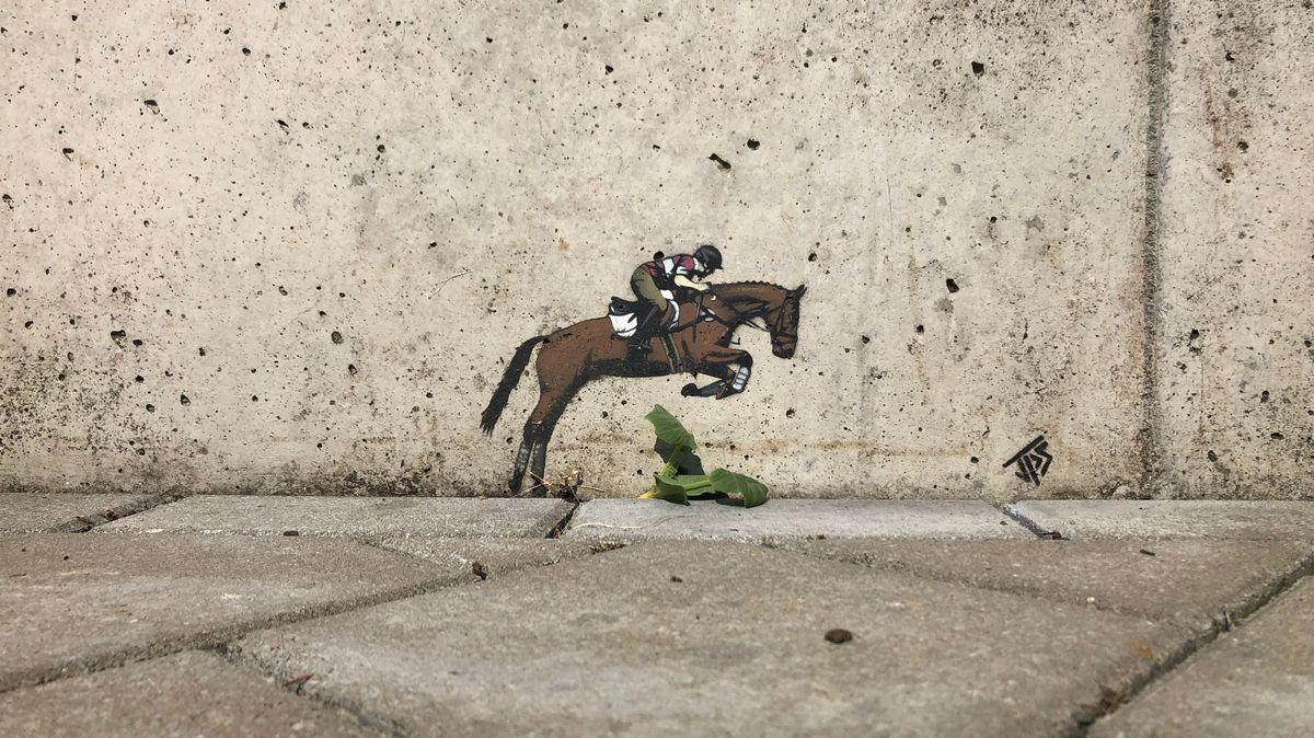 Streetart von Jamie Paul Scanlon im Klärwerk in Hausen im Landkreis Main-Spessart