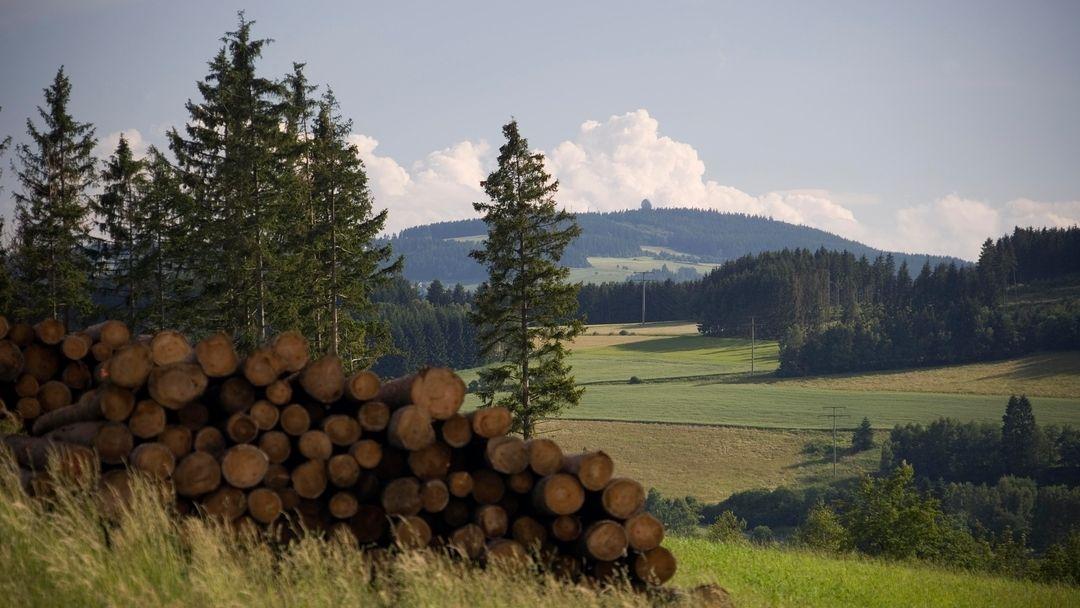 Der Döbraberg bei Schwarzenbach am Wald im Frankenwald.