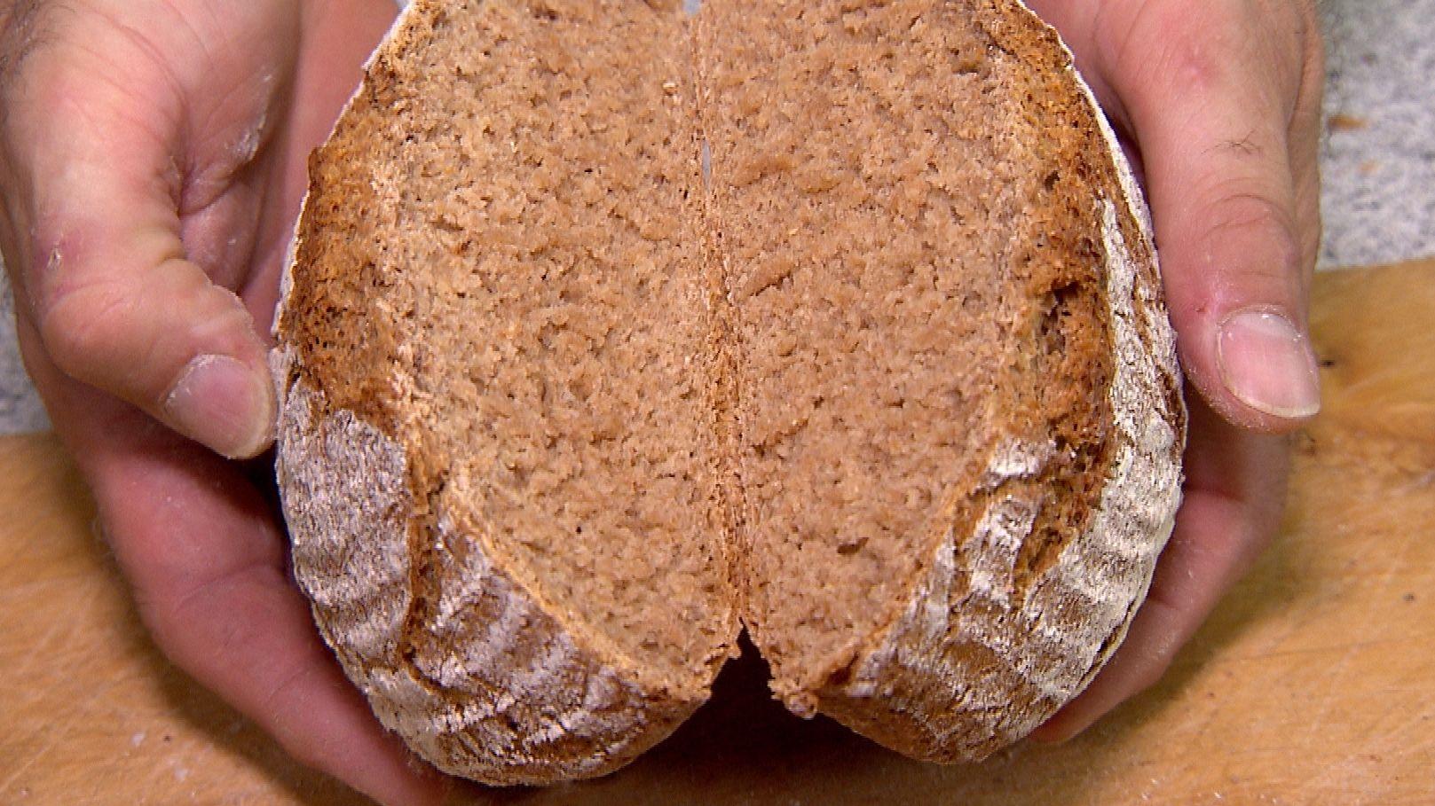 Brot aus Grells Unterfränkischem Landweizen