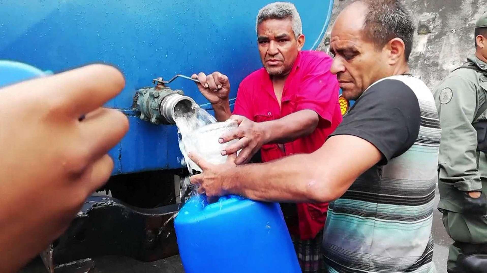 Die anhaltenden Stromausfälle führen auch zu Wasserknappheit in Venezuela.