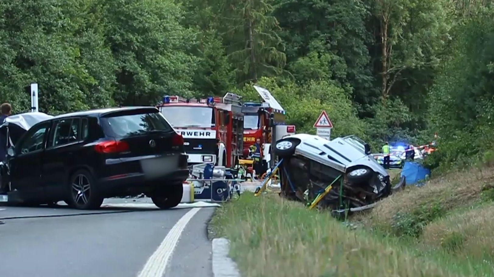 Unfallstelle auf der Staatsstraße bei Warmensteinach