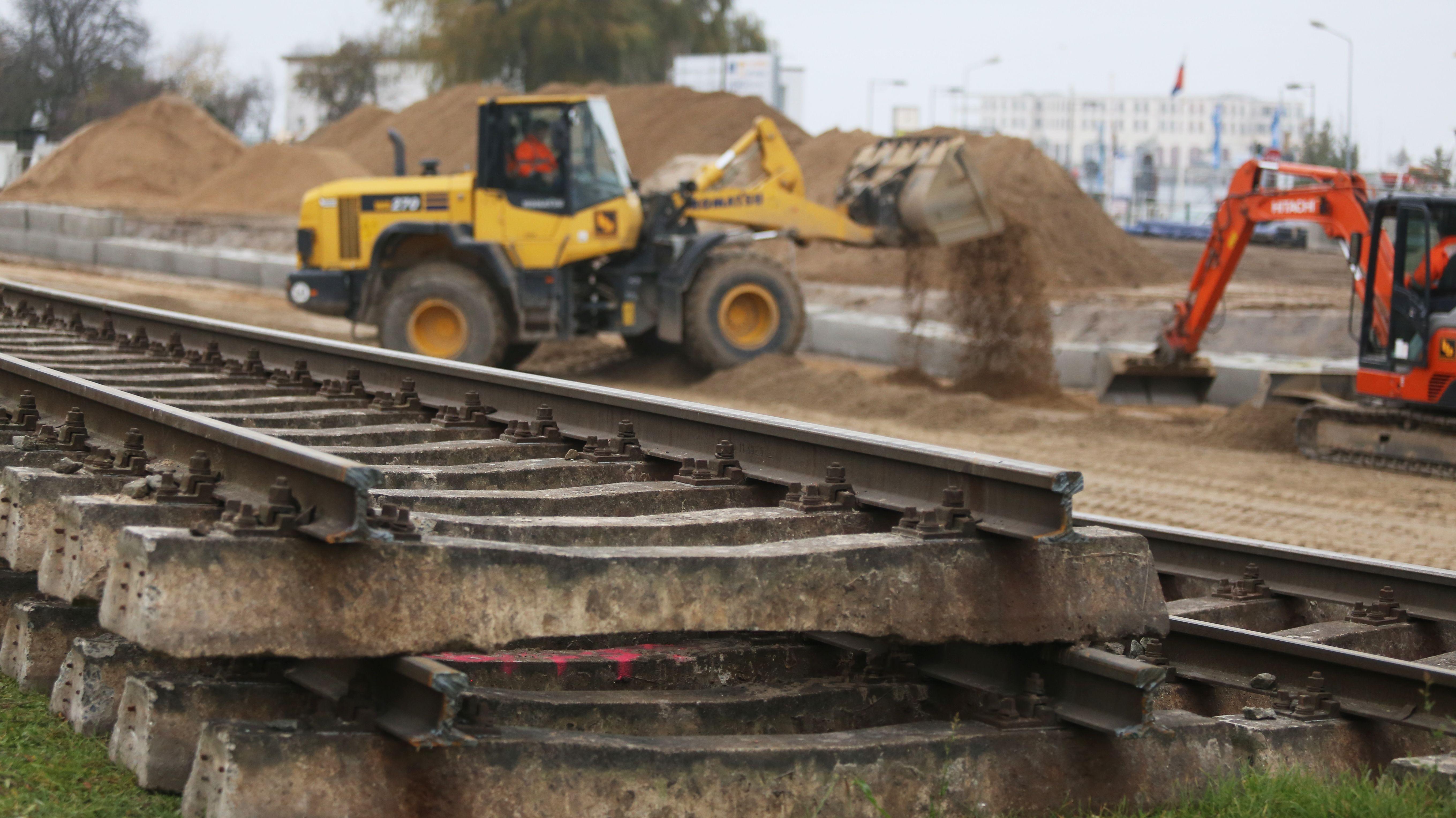 Bauarbeiten Bahn