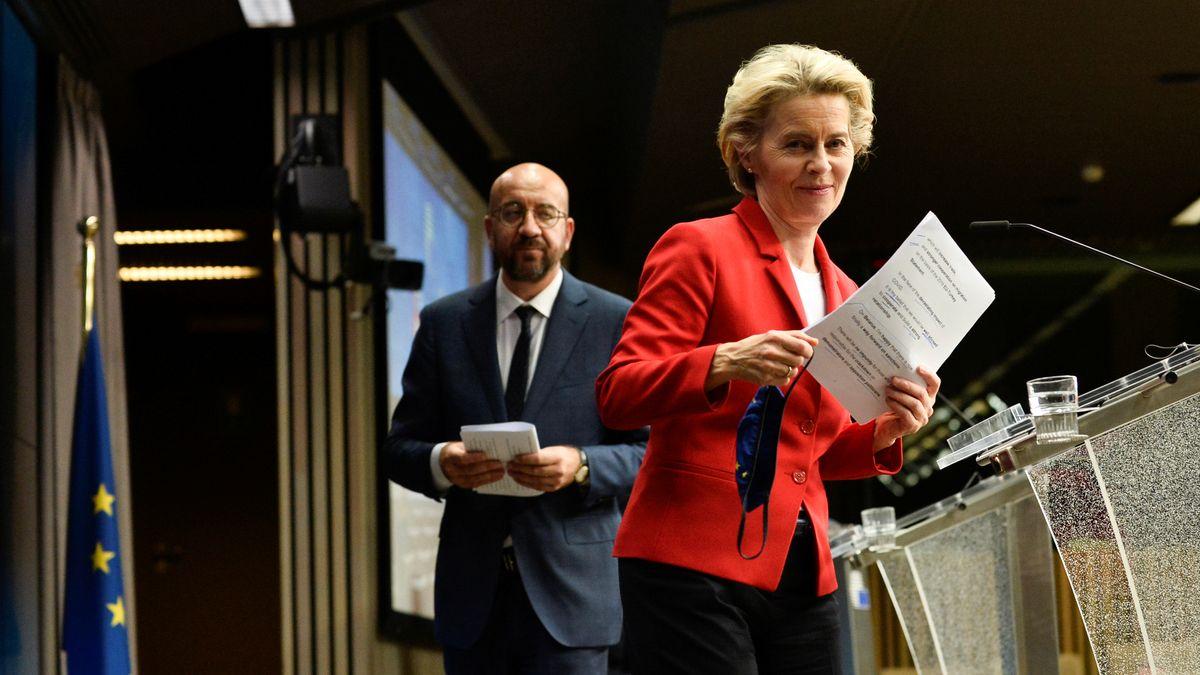 Ursula von der Leyen und Charles Michel in Brüssel