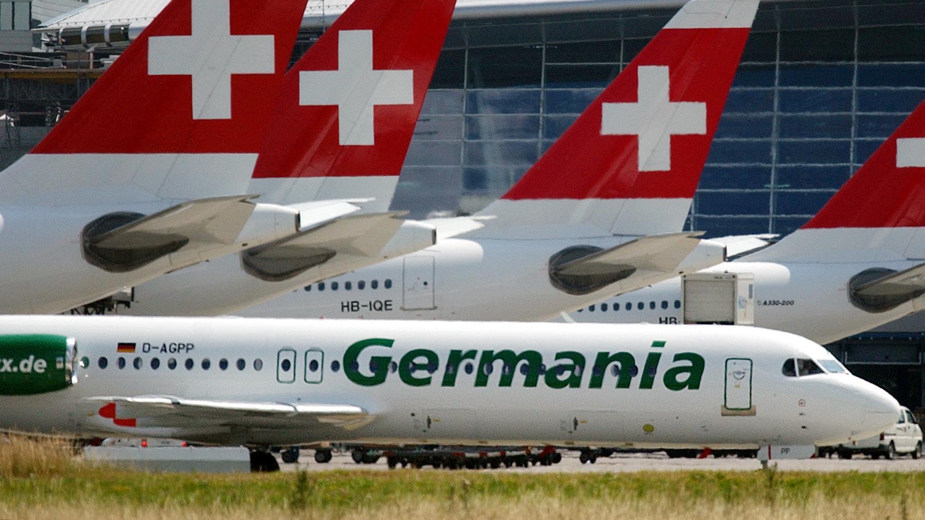 Flugzeug der Fluglinie Germania