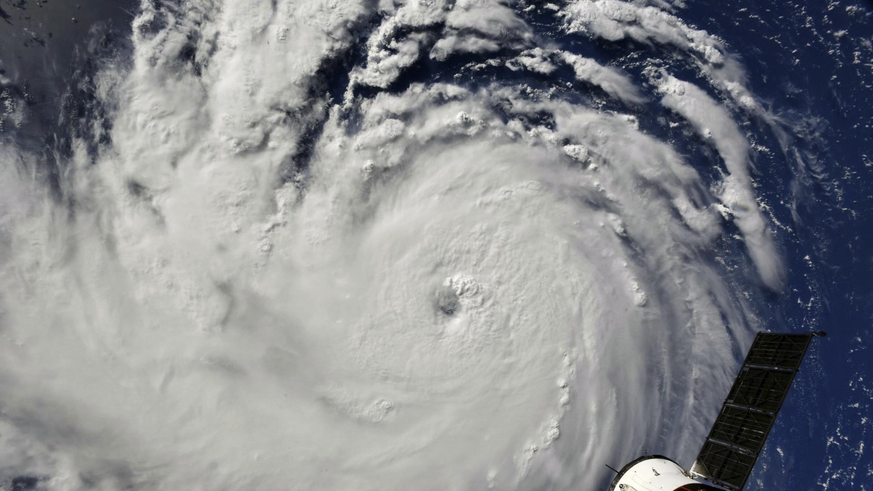 """Dieses von der NASA zur Verfügung gestellte Bild zeigt den Hurrikan """"Florence"""", als er sich auf die US-Ostküste bewegt."""