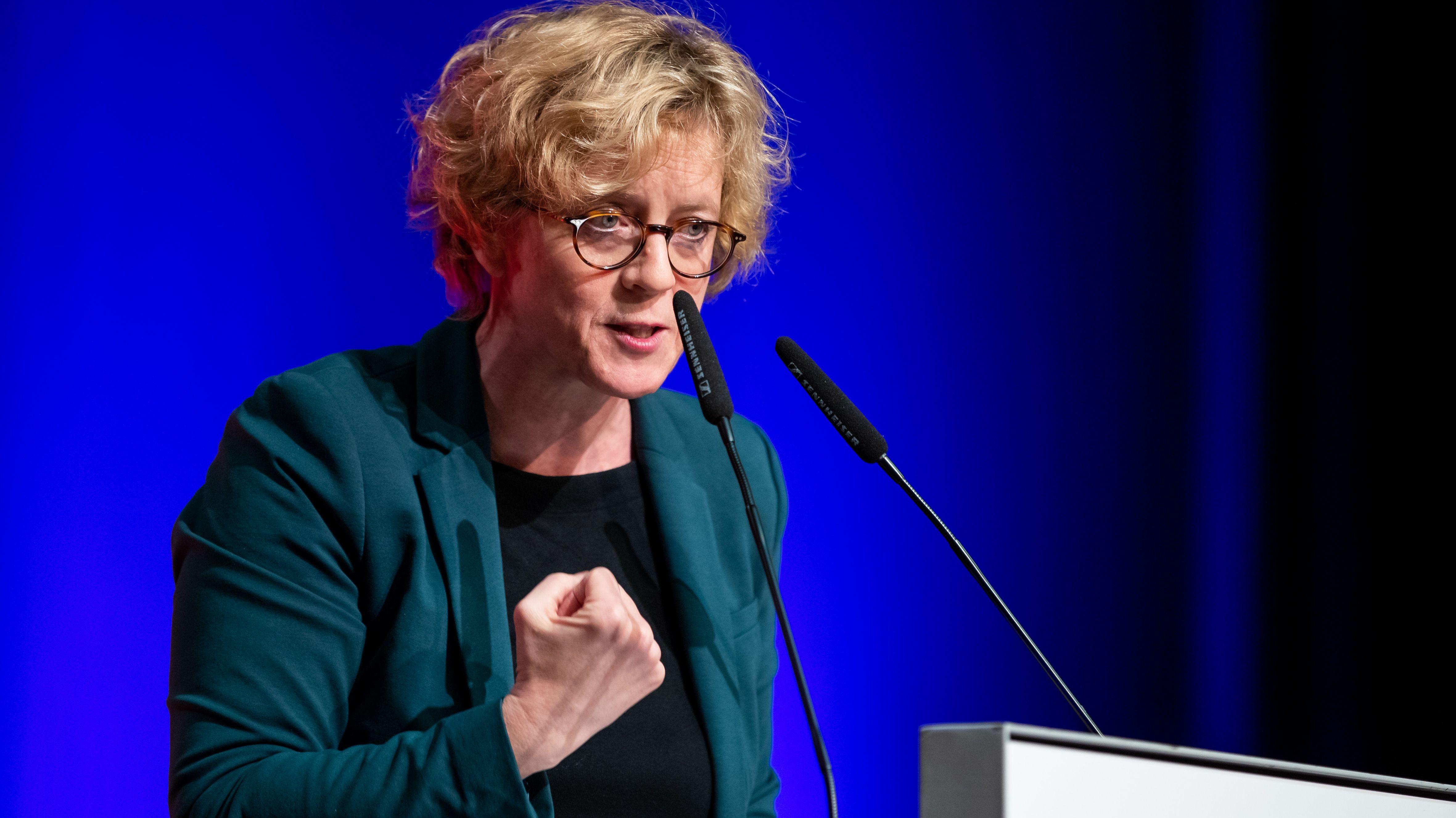 Die SPD-Landesvorsitzende Natascha Kohnen spricht beim Landesparteitag in Bad Windsheim am 26. Januar 2019