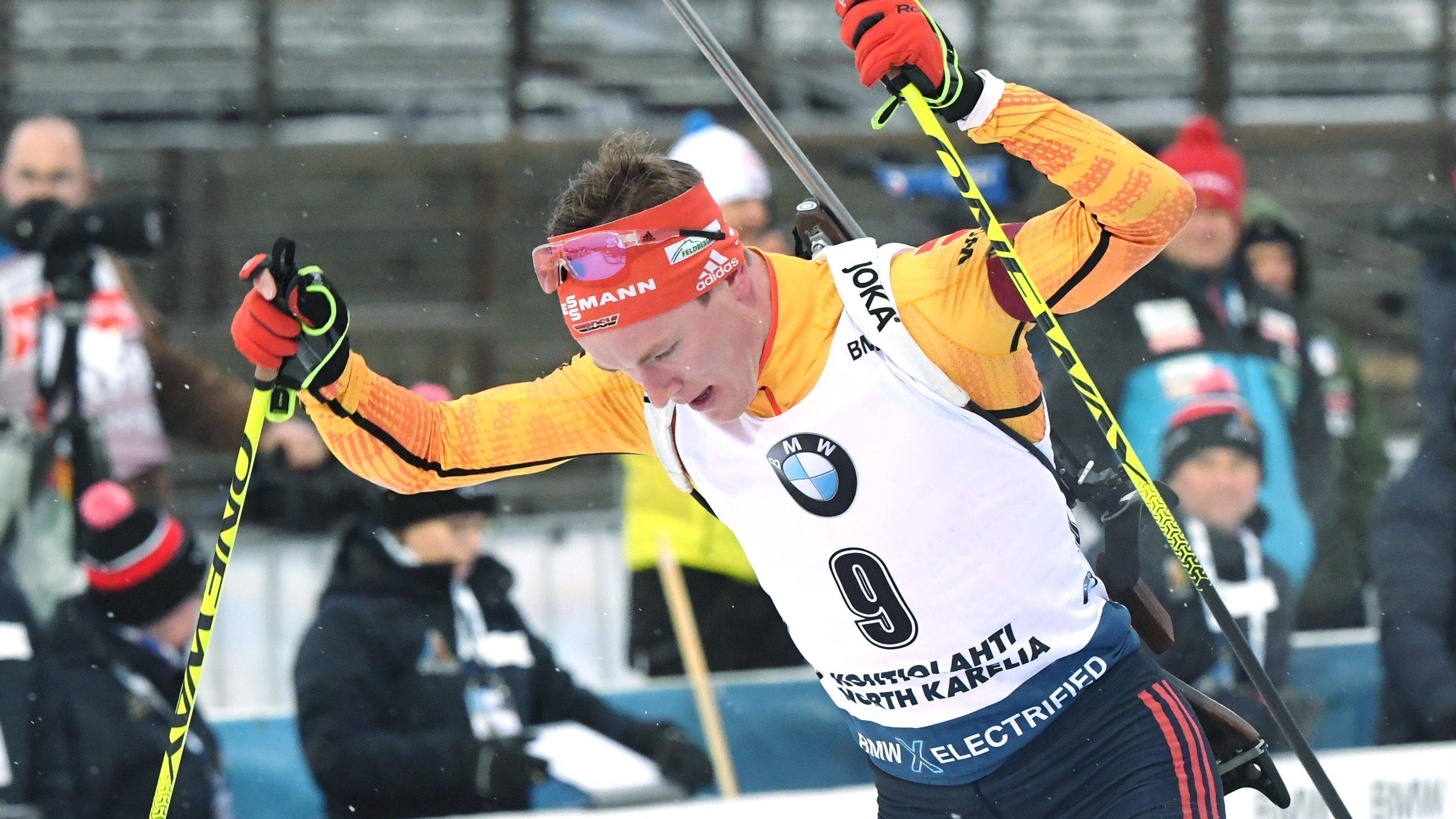 Benedikt Doll beim Biathlon-Weltcup in Kontiolahti